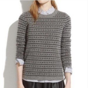 Madewell heart design sweater